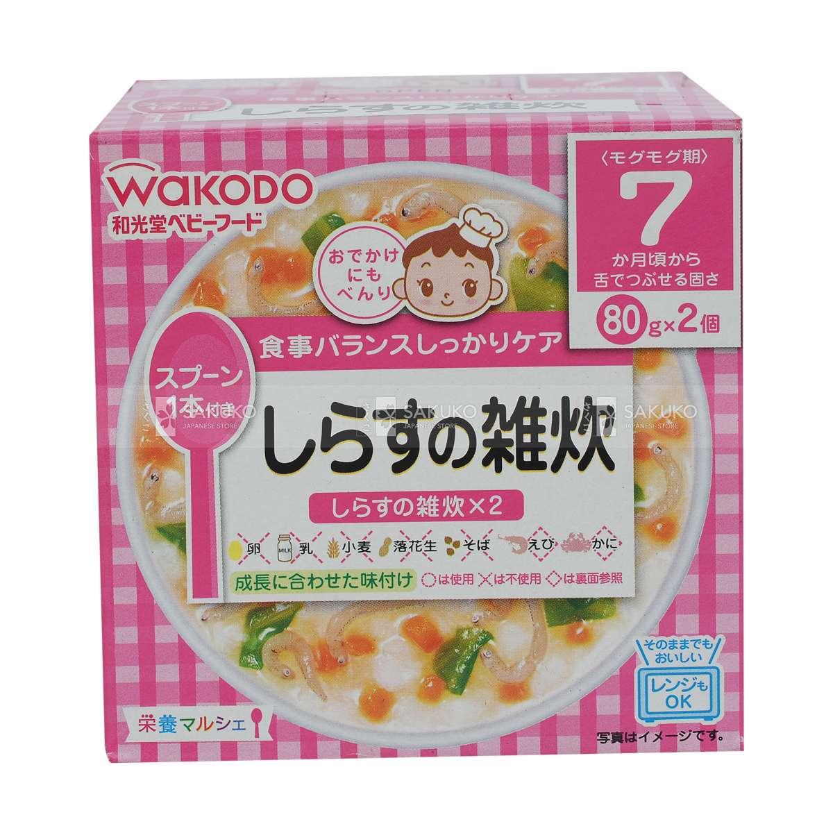 Cháo ăn dặm cho bé của Nhật thương hiệu Wakodo