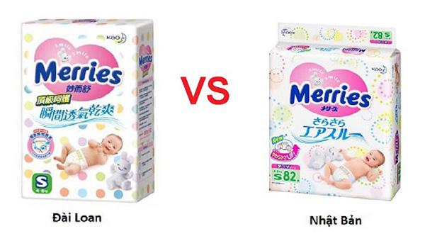 Bỉm Merries nội địa Nhật và nhập khẩu có sự khác nhau về bao bì