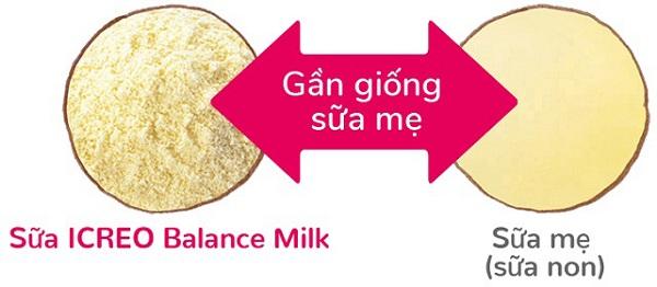 hương vị sữa Glico nội địa giống sữa mẹ